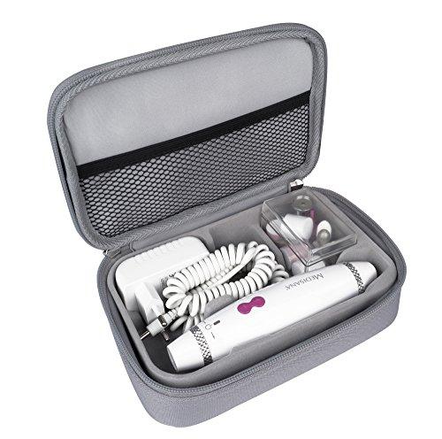 Medisana MP 840 elektrischen Maniküre-/Pediküre-Set 85155, 7 Nagelpflege-Aufsätze, 3 Geschwindigkeitsstufen, LED Licht